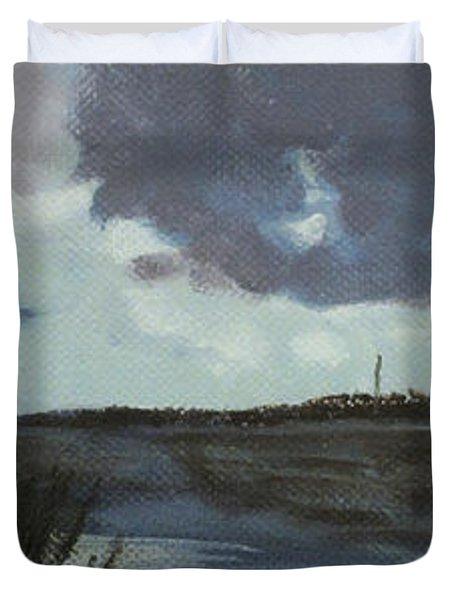 Pointe Of Chein Blue Skies Duvet Cover