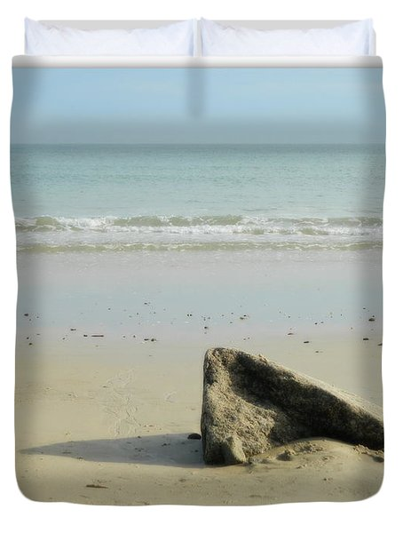 Pointed Rock At Squibby Duvet Cover by Kathy Barney