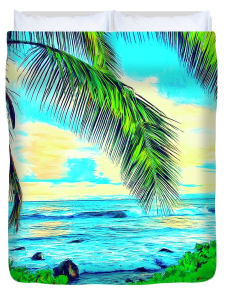 Poipu Sunrise Duvet Cover