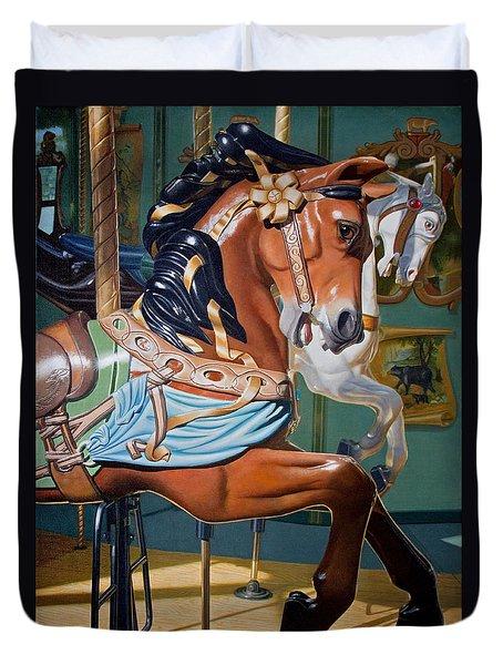 Poised For The Dreamer Duvet Cover by Stephen Shub
