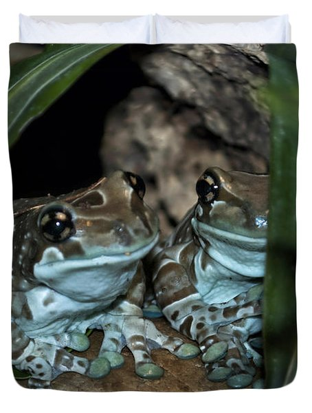Poisonous Frogs With Sticky Feet Duvet Cover by Thomas Woolworth