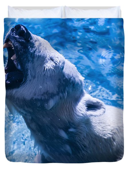 Polar Bear Duvet Cover by Chris Flees
