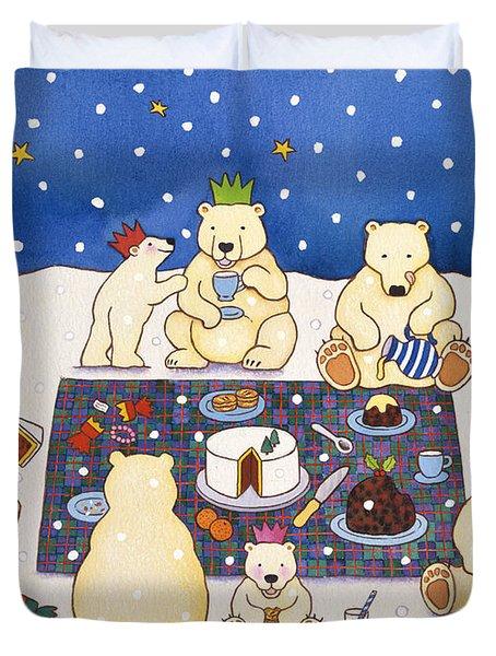 Polar Bear Picnic Duvet Cover