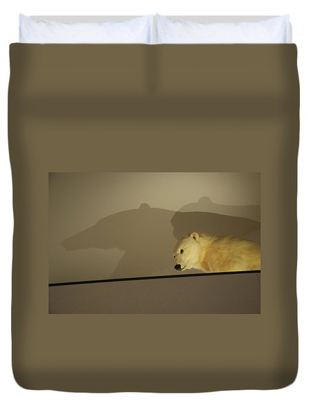 Polar Bear Shadows Duvet Cover