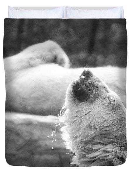 Polar Bears Duvet Cover by Michael Ver Sprill