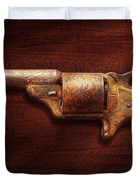 Police - Gun - Mr Fancy Pants Duvet Cover by Mike Savad
