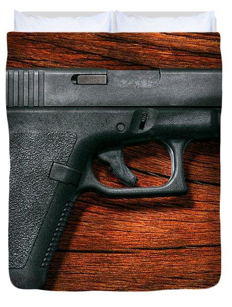 Police - Gun - The Modern Gun  Duvet Cover by Mike Savad