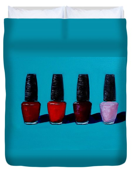 Polished Opi Nail Polish Duvet Cover