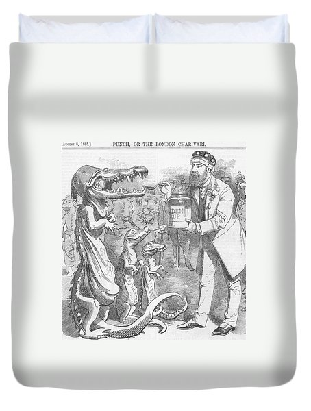 Political Crocodile Duvet Cover