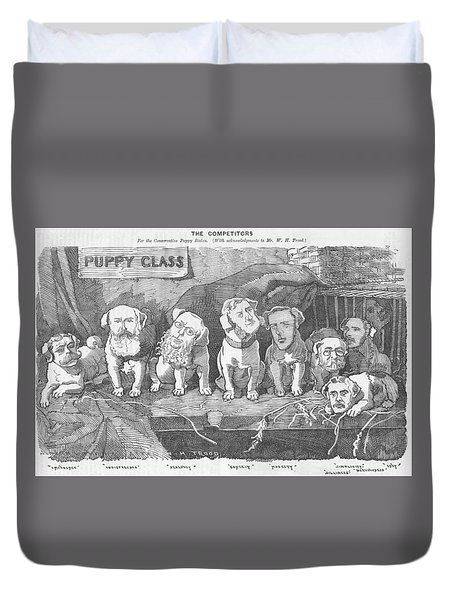 Political Puppy Class Duvet Cover