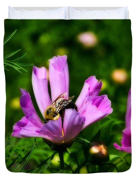 Pollinating Flowering Duvet Cover