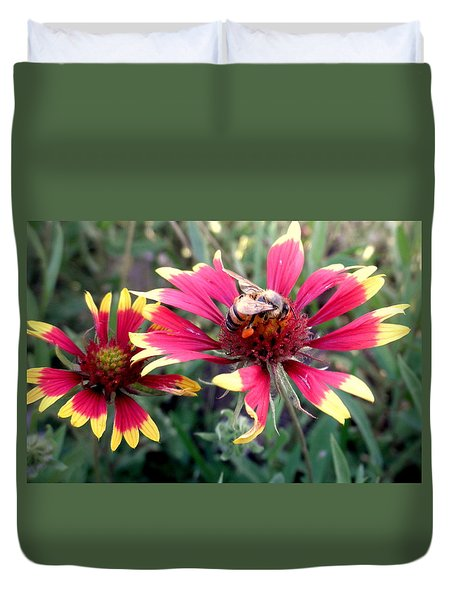 Pollination #1 Duvet Cover by Camille Reichardt