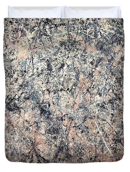 Pollock's Number 1 -- 1950 -- Lavender Mist Duvet Cover by Cora Wandel