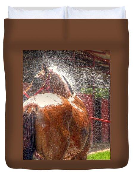 Polo Pony Shower Hdr 21061 Duvet Cover