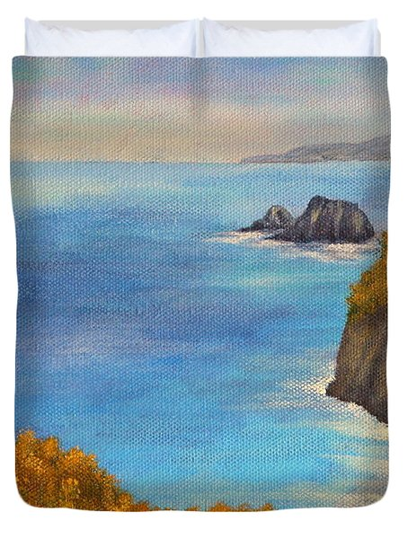 Pololu Valley Lookout Duvet Cover by Pamela Allegretto