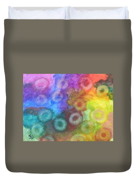 Polychromatic Rbc's Duvet Cover