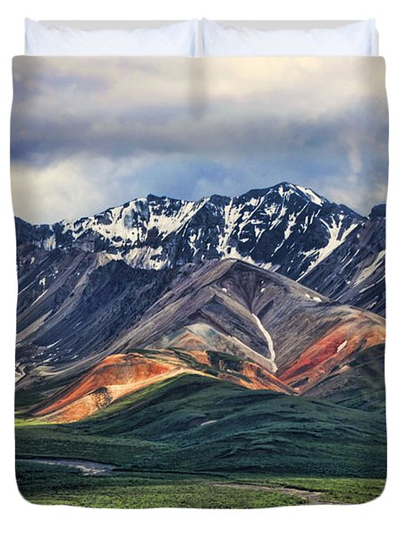 Polychrome Duvet Cover by Heather Applegate