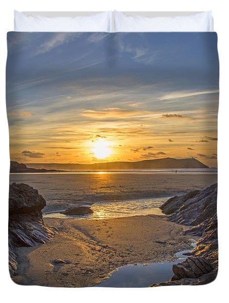 Polzeath Sunset Duvet Cover