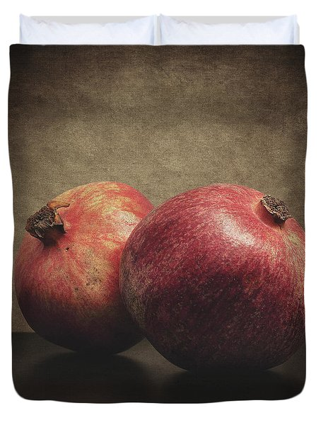 Pomegranate Duvet Cover by Taylan Apukovska