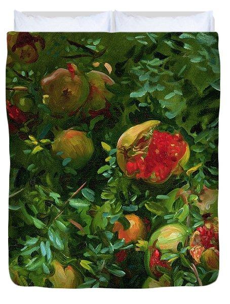 Pomegranates    Majorca Duvet Cover by John Singer Sargent