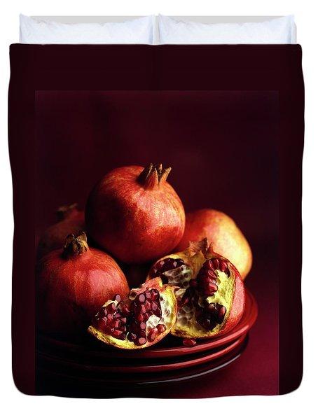 Pomegranates Duvet Cover by Romulo Yanes