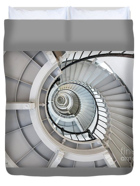 Ponce De Leon Inlet Lighthouse Staircase Duvet Cover
