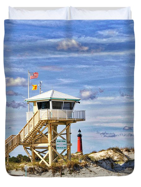 Ponce Inlet Scenic Duvet Cover