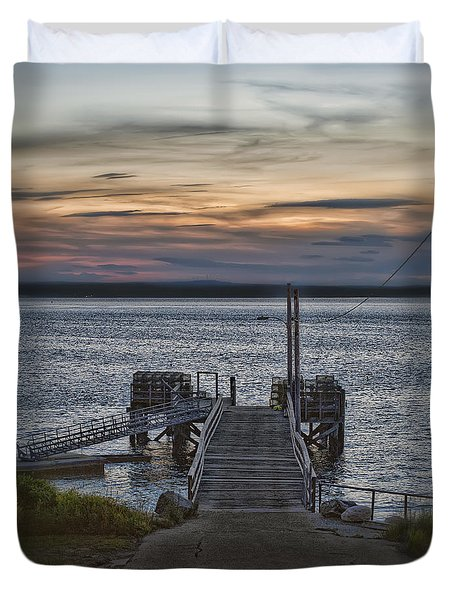Duvet Cover featuring the photograph Ponce Landing by Richard Bean