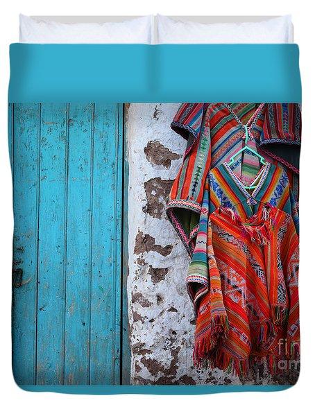 Ponchos For Sale Duvet Cover by James Brunker