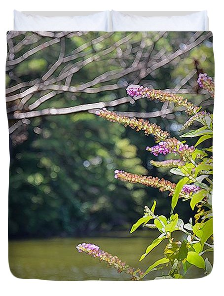 Pond At Norfolk Botanical Garden 12 Duvet Cover by Lanjee Chee