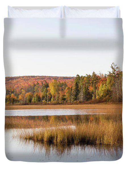 Pond In A Forest, Alger County, Upper Duvet Cover