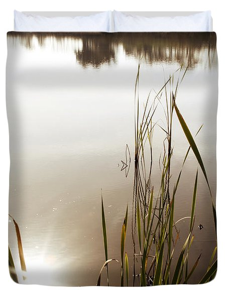 Pond Duvet Cover by Les Cunliffe