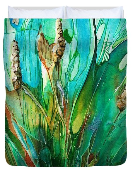 Pond Life Duvet Cover by Pat Purdy