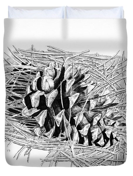 Ponderosa Pine Cone Duvet Cover