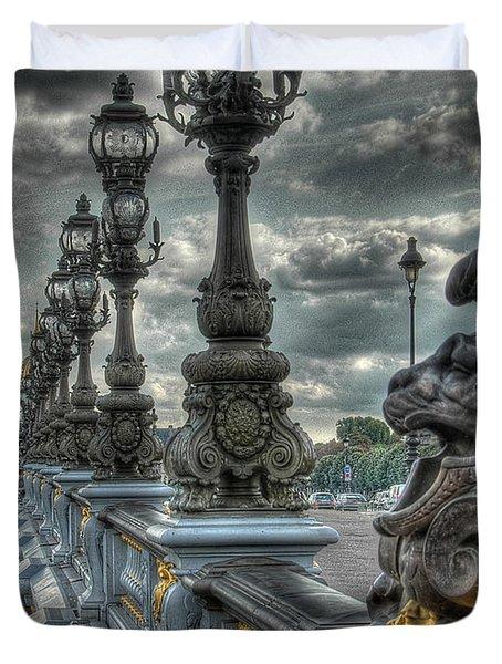Pont Alexandre IIi  Duvet Cover