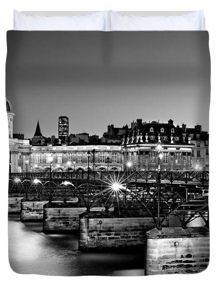 Duvet Cover featuring the photograph Pont Des Arts And Institut De France / Paris by Barry O Carroll