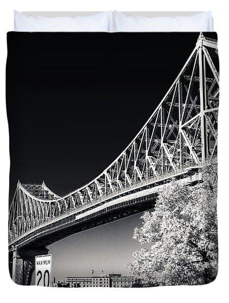 Pont Jacques Cartier Duvet Cover by Bianca Nadeau