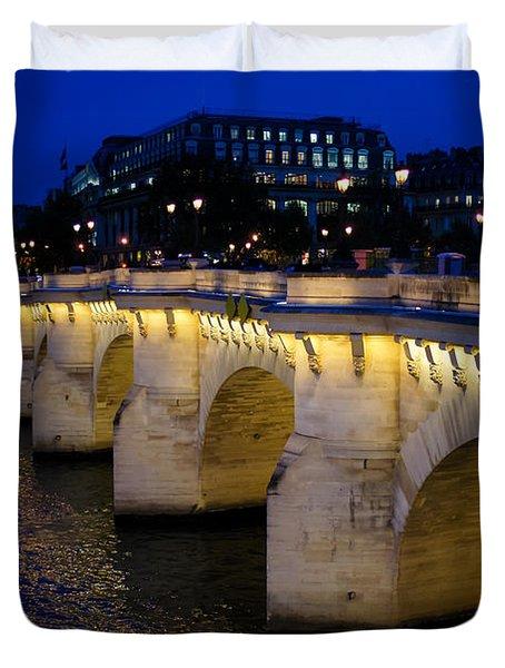 Pont Neuf Bridge - Paris - France Duvet Cover