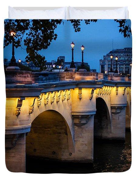 Pont Neuf Bridge - Paris France Duvet Cover