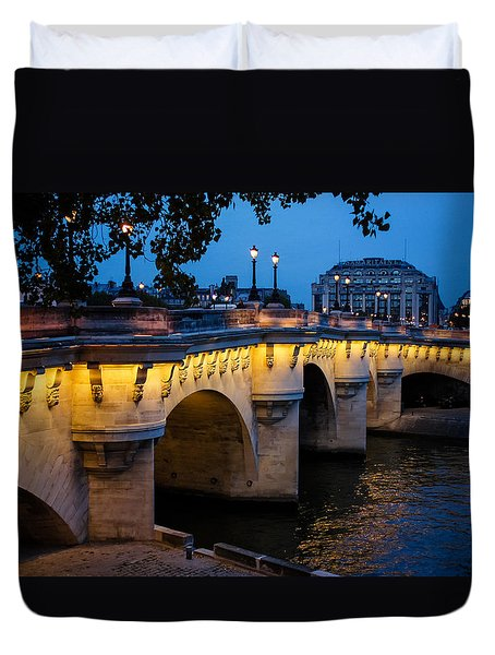 Pont Neuf Bridge - Paris France I Duvet Cover