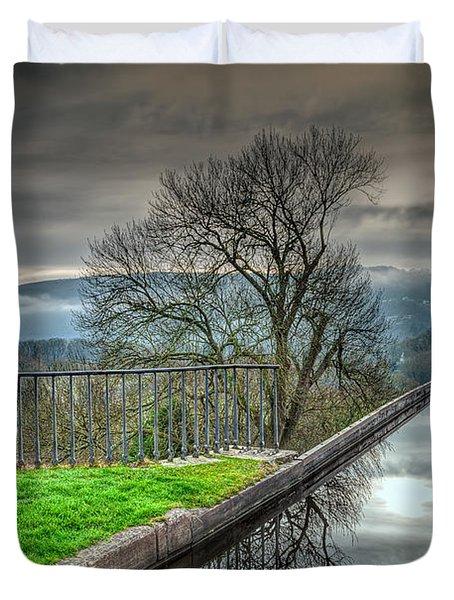 Pontcysyllte Aqueduct Duvet Cover by Adrian Evans