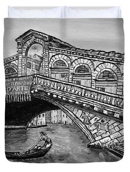 Ponte Di Rialto Duvet Cover by Loredana Messina