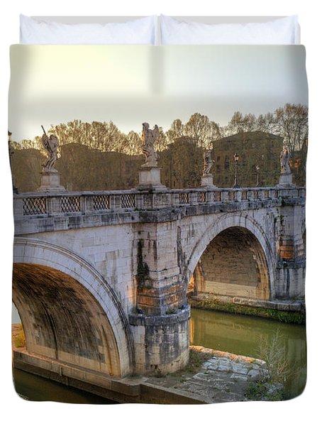 Ponte Sant'angelo  Duvet Cover