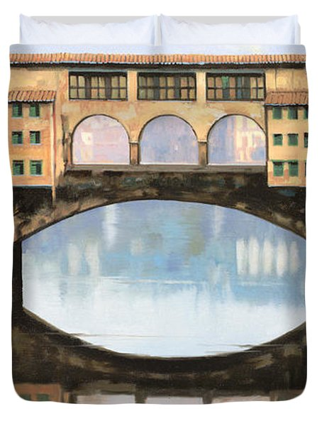 Ponte Vecchio A Firenze Duvet Cover