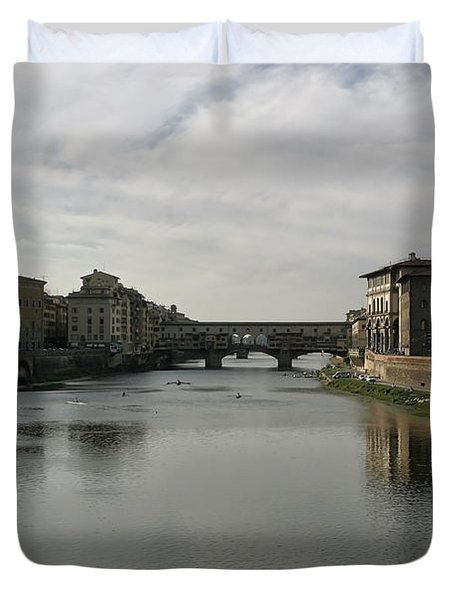 Ponte Vecchio Duvet Cover by Belinda Greb