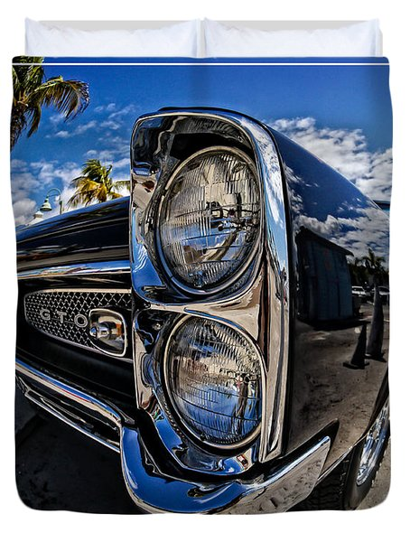 Pontiac Gto Convertible Ft Myers Beach Florida Duvet Cover by Edward Fielding