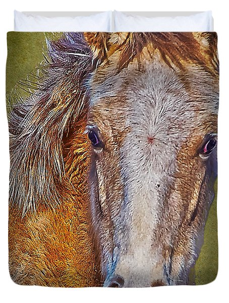 Pony Portrait  Duvet Cover