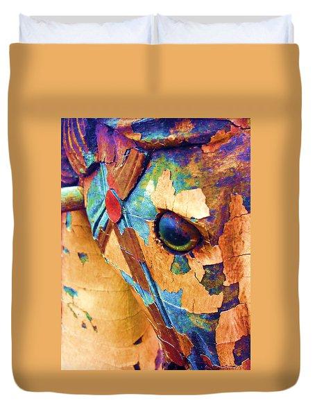 Pony Duvet Cover by Julio Lopez