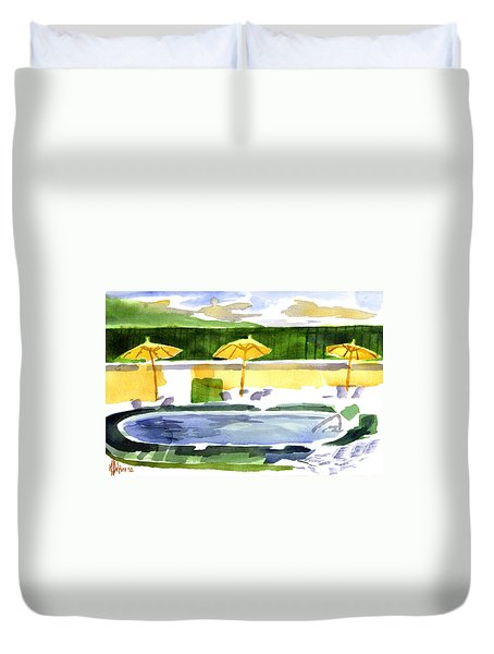 Poolside Duvet Cover by Kip DeVore