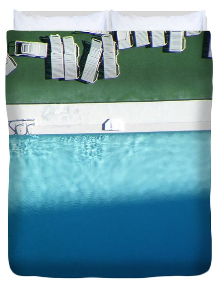Poolside Upside Duvet Cover by Brian Boyle